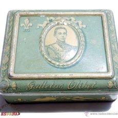 Antigüedades: CAJA DE CHAPA GALLETAS OLIBET. Lote 49651752