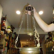 Antigüedades: LAMPÀRA ACEITE SIGLO XVIII. BRONCE-LATON. Lote 49667274