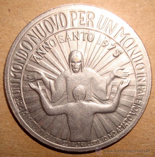 MEDALLA RELIGIOSA MONDO NUOVO ANNO SANTO 1975 (Antigüedades - Religiosas - Medallas Antiguas)
