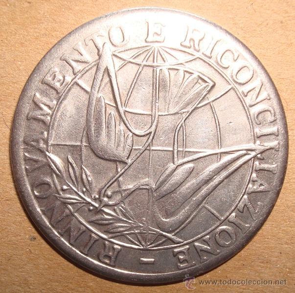 Antigüedades: MEDALLA RELIGIOSA MONDO NUOVO ANNO SANTO 1975 - Foto 2 - 49668380