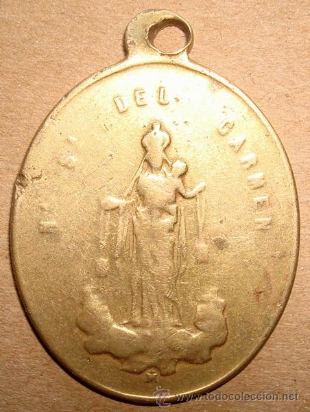 MEDALLA RELIGIOSA NUESTRA SEÑORA DEL CARMEN (Antigüedades - Religiosas - Medallas Antiguas)