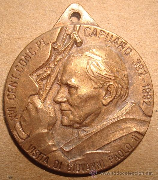 MEDALLA RELIGIOSA VISITA DI GIOVANNI PAOLO II 24/5/1992 (Antigüedades - Religiosas - Medallas Antiguas)