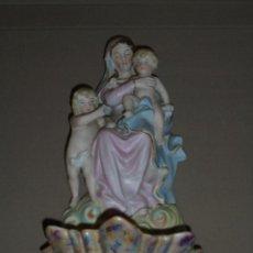 Antigüedades: (M) ANTIGUA BENDITERA S.XIX DE BISCUIT - PERFECTO ESTADO DE CONSERVACION - 29X14 CM.. Lote 49671345