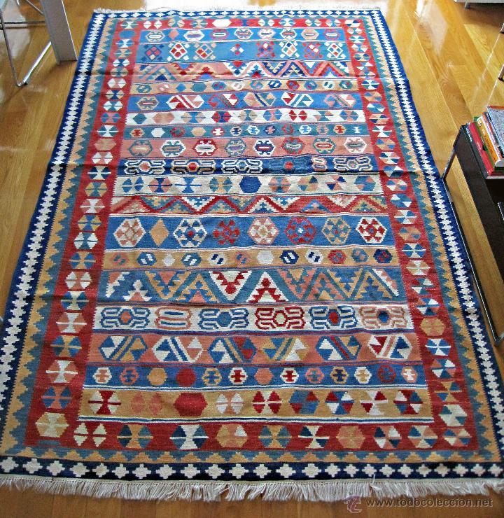 Alfombra persa kilim tonos multicolores comprar for Kilim alfombras online