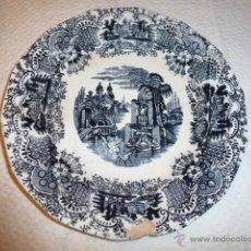 Antigüedades: PLATO DE LOZA PICKMAN CARTULA. Lote 49686385