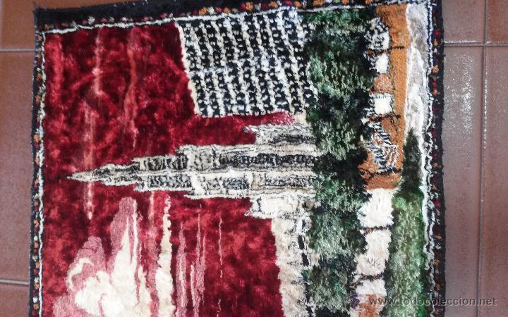Antigüedades: ANTIGUO TAPIZ ATERCIOPELADO - Foto 3 - 49686638