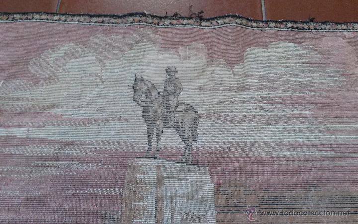 Antigüedades: ANTIGUO TAPIZ ATERCIOPELADO - Foto 4 - 49686638