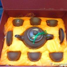 Antigüedades: YIXING - PRECIOSO JUEGO TÉ U CAFÉ YIXING CHINA A ESTRENAR, 111-1. Lote 49687168