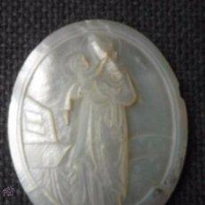 Antigüedades: SAN ANTONIO TALLADO EN NÁCAR S XIX. Lote 49689200