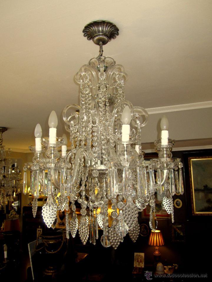 Soberbia lampara de cristal de bohemia comprar l mparas - Lamparas cristal antiguas ...