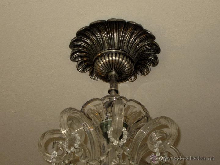 Antigüedades: SOBERBIA LAMPARA DE CRISTAL DE BOHEMIA - Foto 4 - 49691806
