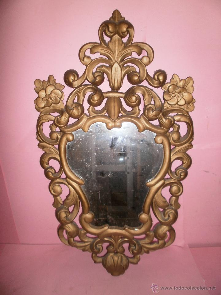 ESPEJO CORNUCOPIA MADERA TALLADA (Antigüedades - Muebles Antiguos - Cornucopias Antiguas)