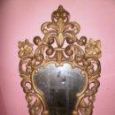 Antigüedades: ESPEJO CORNUCOPIA MADERA TALLADA. Lote 49691948