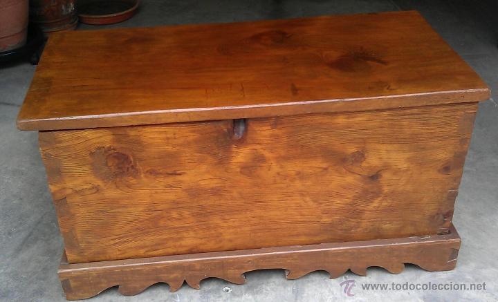 Antiguo baul arcon de madera maciza restaurado comprar - Muebles restaurados online ...