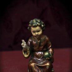Antigüedades: PRECIOSO NIÑO JESÚS SEDENTE. Lote 49698229