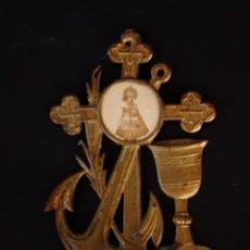 Antigüedades: BENDITERA DE METAL. Lote 49698529