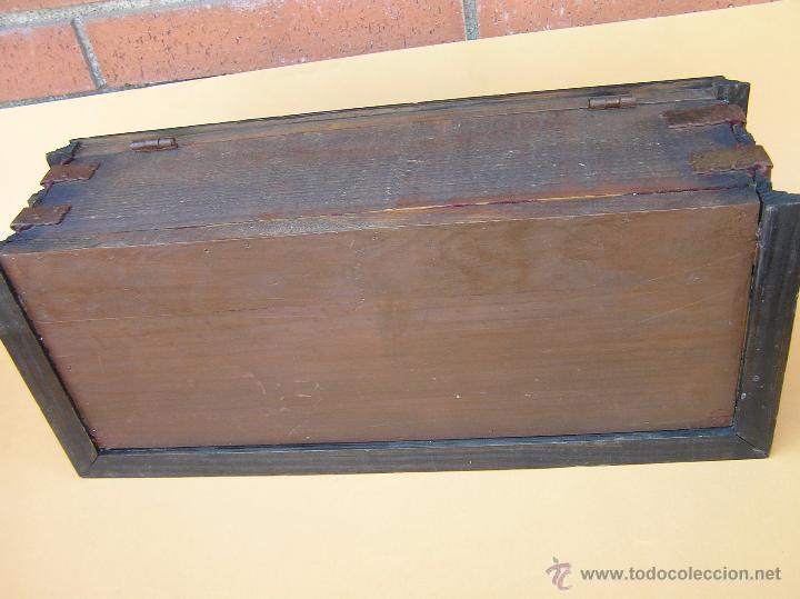 Antigüedades: CAJA ABANIQUERA. PERICÓN. SIGLO XIX. ESPECTACULAR. - Foto 34 - 49709377