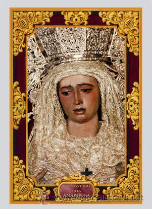 AZULEJO 20X30 DE MARÍA SANTÍSIMA DE LA AMARGURA CORONADA DE SEVILLA (Antigüedades - Religiosas - Varios)