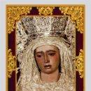 Antigüedades: AZULEJO 20X30 DE MARÍA SANTÍSIMA DE LA AMARGURA CORONADA DE SEVILLA. Lote 49712218