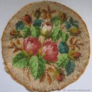 Antigüedades: ANTIGUA PIEZA BORDADA CON PERLAS DE CRISTAL S. XIX. Lote 49723802