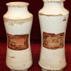 Antigüedades: PAREJA DE ALBARELOS DE FARMACIA DEL SIGLO XVIII. ALBARELO. Lote 49733965