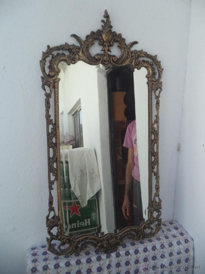 Antigüedades: consola y espejo de bronce - Foto 2 - 49734665