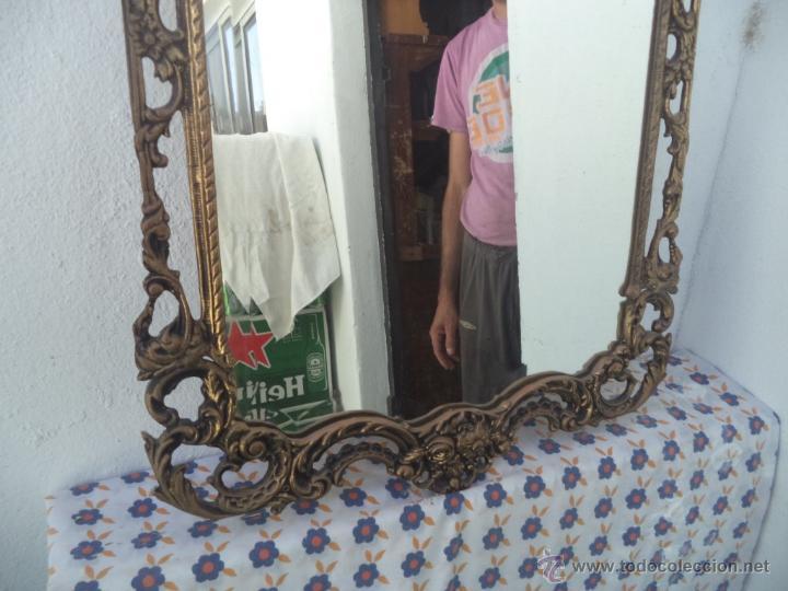 Antigüedades: consola y espejo de bronce - Foto 3 - 49734665