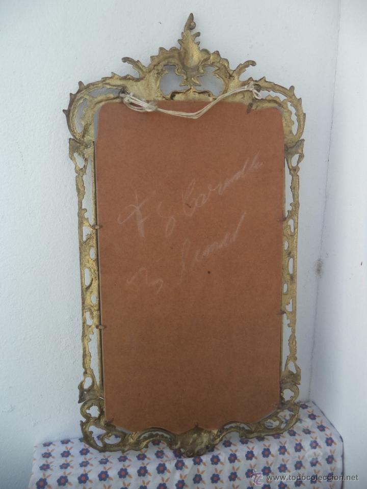 Antigüedades: consola y espejo de bronce - Foto 4 - 49734665