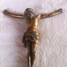 Antigüedades: GRAN ANTIGUO CRUCIFIJO O CRISTO CRUCIFICADO DE BRONCE, 28CM, PESA 935GR.. Lote 49738011