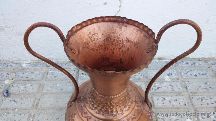 Antigüedades: antiguo jarron de cobre. - Foto 2 - 49739606