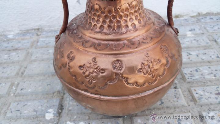 Antigüedades: antiguo jarron de cobre. - Foto 3 - 49739606