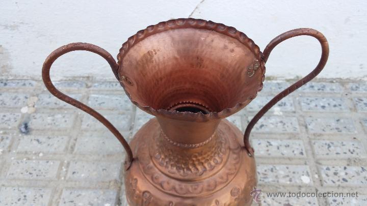 Antigüedades: antiguo jarron de cobre. - Foto 2 - 49739881