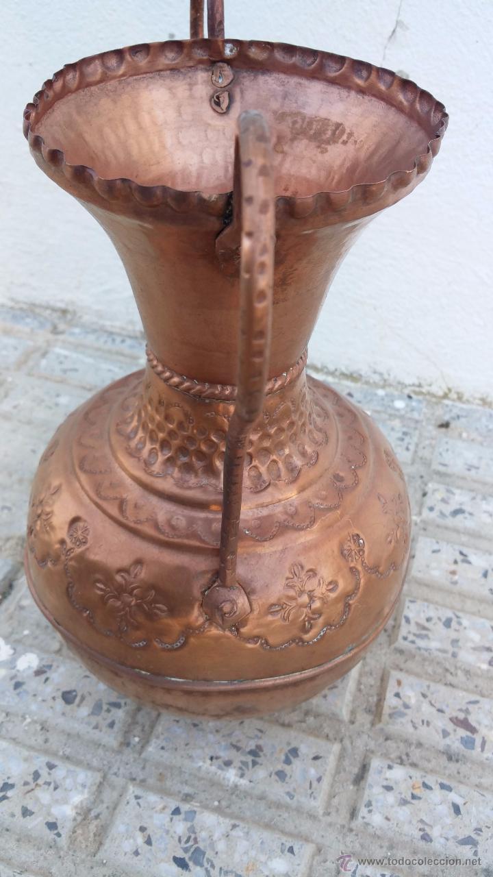 Antigüedades: antiguo jarron de cobre. - Foto 3 - 49739881