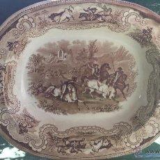 Antigüedades: ANTIGUA FUENTE DE CARTAGENA, TONOS MARRONES, SELLADA.. Lote 49740879
