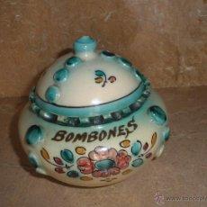 Antigüedades: ANTIGUA BOMBONERA CERAMICA DE LA CAL PUENTE DEL ARZOBISPO. TOLEDO. Lote 49743729