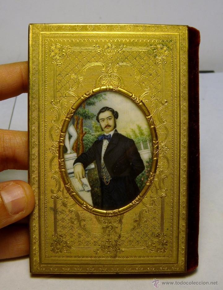 EXQUISITO CARNET DE BAILE. DE LUJO. S.XIX. MARFIL PINTADO. FILO DE ORO. (Antigüedades - Moda y Complementos - Mujer)