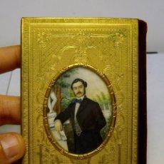 Antigüedades: EXQUISITO CARNET DE BAILE. DE LUJO. S.XIX. MARFIL PINTADO. FILO DE ORO.. Lote 49750230