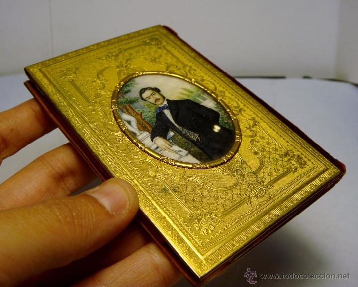 Antigüedades: Exquisito Carnet de Baile. De Lujo. S.XIX. Marfil Pintado. Filo de Oro. - Foto 2 - 49750230