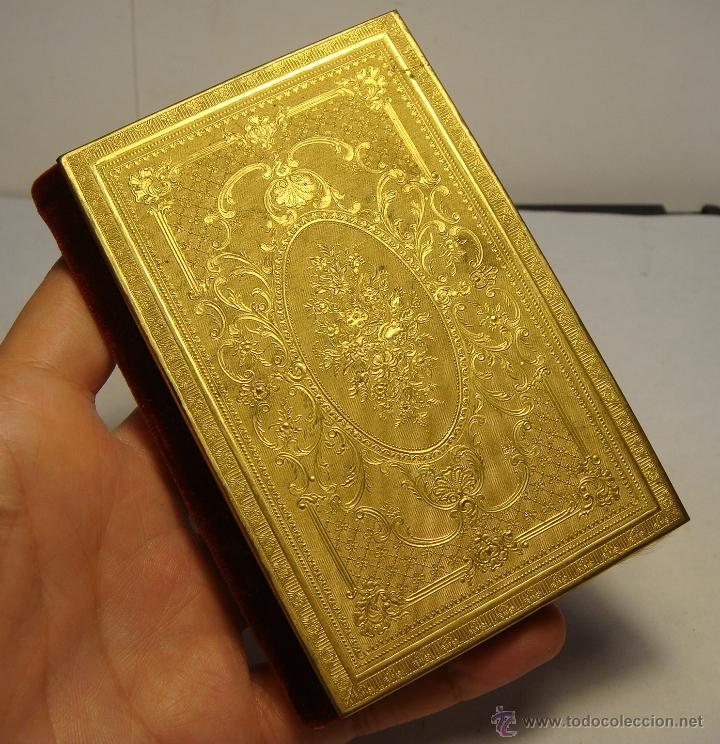 Antigüedades: Exquisito Carnet de Baile. De Lujo. S.XIX. Marfil Pintado. Filo de Oro. - Foto 6 - 49750230