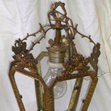 Antiquitäten - **ANTIGUA LAMPARA FAROLILLO DE BRONCE FUNCIONA PERFECTAMENTE**(33 x 20 x 10 cm) VER TODAS LAS FOTOS! - 49751153