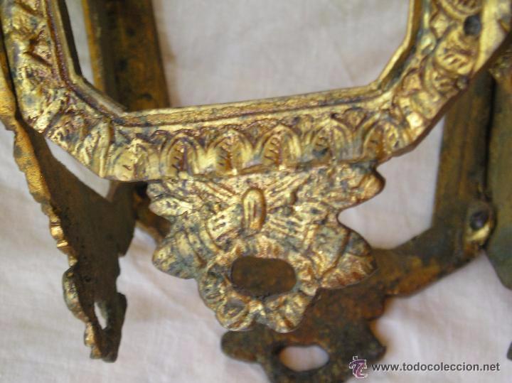 Antigüedades: **ANTIGUA LAMPARA FAROLILLO DE BRONCE FUNCIONA PERFECTAMENTE**(33 x 20 x 10 cm) VER TODAS LAS FOTOS! - Foto 2 - 49751153