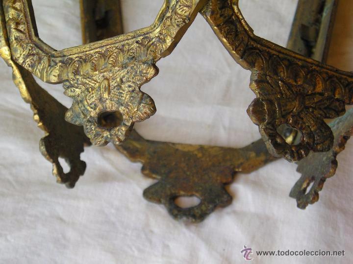 Antigüedades: **ANTIGUA LAMPARA FAROLILLO DE BRONCE FUNCIONA PERFECTAMENTE**(33 x 20 x 10 cm) VER TODAS LAS FOTOS! - Foto 3 - 49751153