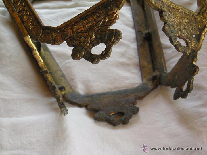 Antigüedades: **ANTIGUA LAMPARA FAROLILLO DE BRONCE FUNCIONA PERFECTAMENTE**(33 x 20 x 10 cm) VER TODAS LAS FOTOS! - Foto 9 - 49751153