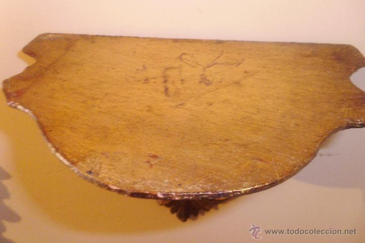 Antigüedades: ANTIGUA MÉMSULA EN TALLA DE MADERA Y PAN DE ORO AÑOS 40 - Foto 5 - 49754220