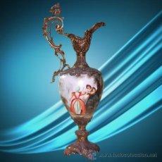 Antigüedades: S008 - JARRON PORCELANA Y BRONCE TIPO SEVRES 42 CM DE ALTO. Lote 49754325