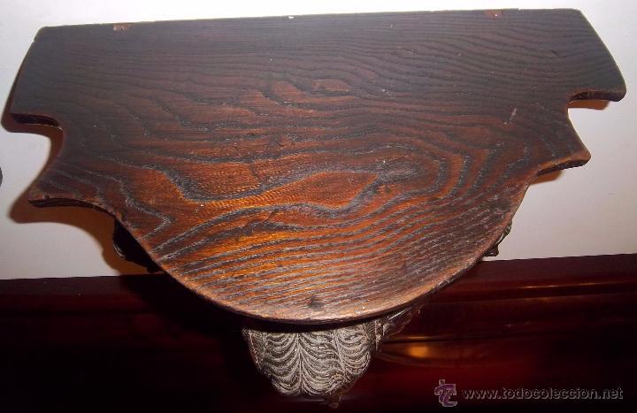 Antigüedades: PAREJA DE MÉNSULAS TALLADAS CON 3 QUERUBINES CADA UNA. FINALES SIGLO XVII - XVIII - Foto 6 - 47358045