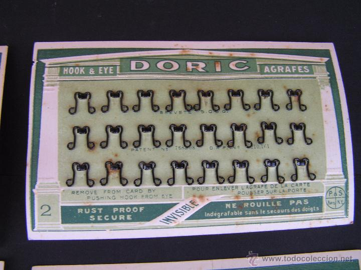 Antigüedades: CARTONCILLOS DE BROCHES DORIC . PARIS. Circa 1900 .MUY INTERESANTE. - Foto 4 - 49757236