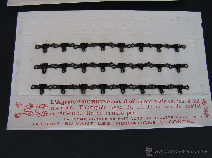 Antigüedades: CARTONCILLOS DE BROCHES DORIC . PARIS. Circa 1900 .MUY INTERESANTE. - Foto 9 - 49757236
