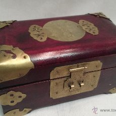 Antigüedades: JOYERO DE MADERA FABRICADO EN SHANGAI. Lote 49760240