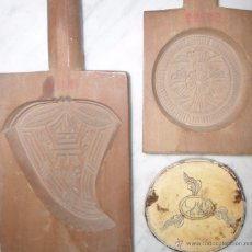 Antigüedades: LOTE 3 PIEZAS ORIENTALES , MADERA. Lote 49763195